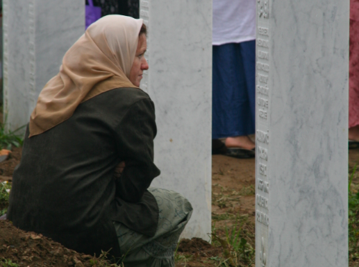 Remembering the dead, Srebrenica, Bosnia