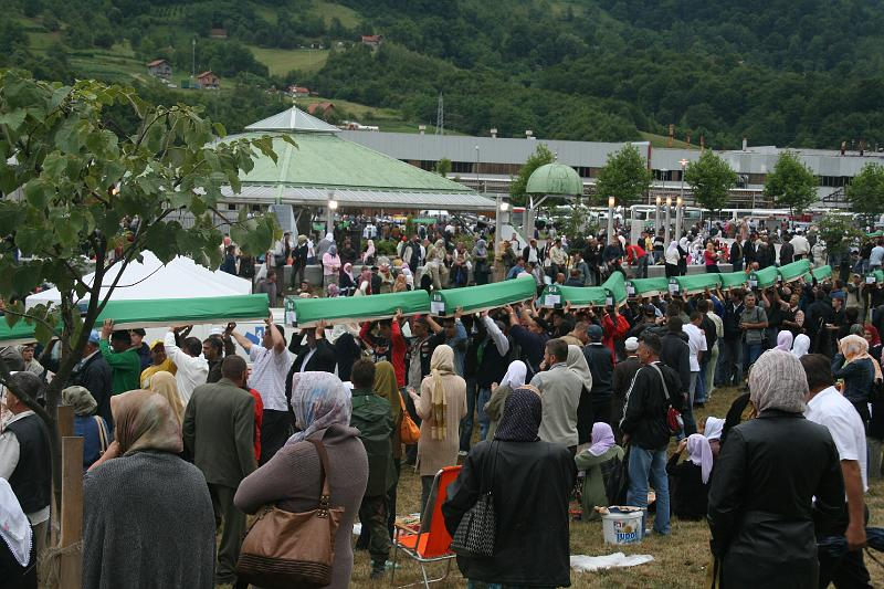 Parade of coffins, Srebrenica, Bosnia