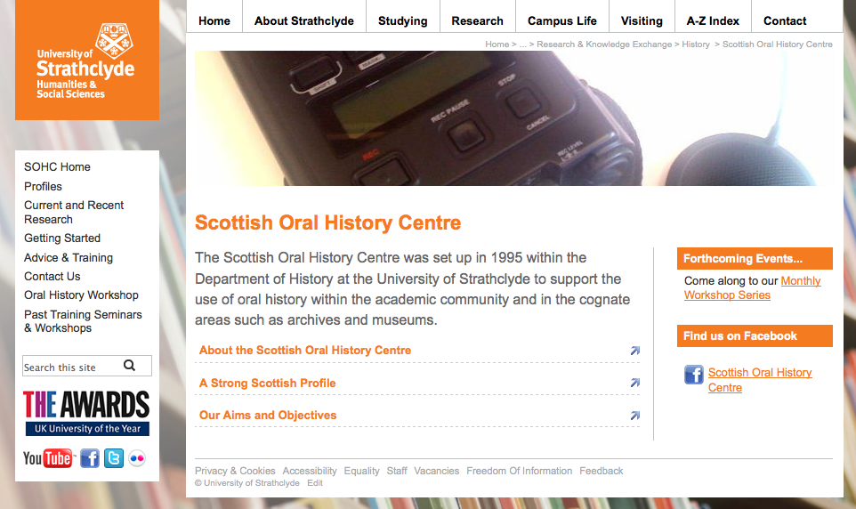 Scottish Oral HIstory Centre